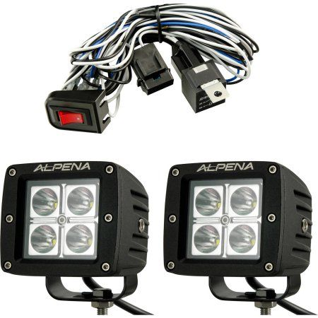Alpena 1500 Lumen Quadfire Led Pod Light Install Kit 2 Pcs Walmart Com Alpena Led Installation