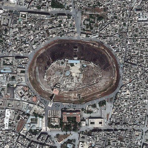 The Citadel Of Aleppo A Medieval Fortified Palace In Syria If You Rotate The Picture 180 Degrees The Hole Becomes A Hill An Interesting Optical Illusion May 26 2013