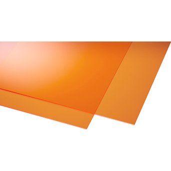 Acryl Platte Eben 3 Mm Glatt Orange 250 Mm X 500 Mm Kaufen Bei Obi In 2020 Obi Acryl Bedachung