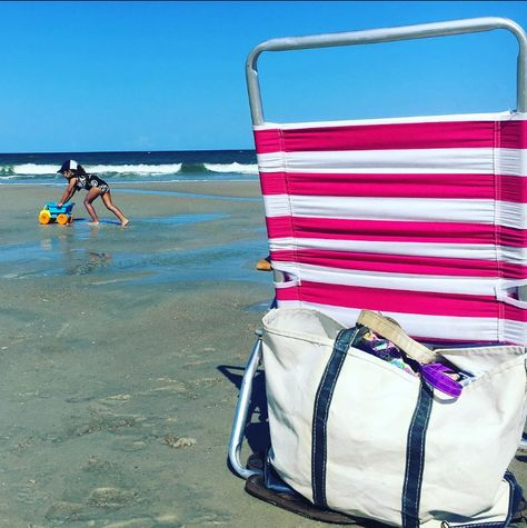 The Original L.L.Bean Boat and Tote: Holding your spot on the beach since 1944. (Photo via Instagram: aglazarus)