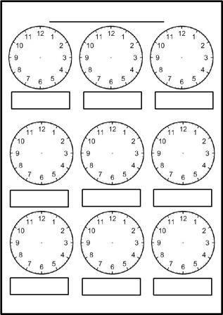 Free printable blank clock faces worksheets … | Clock faces | Clock…