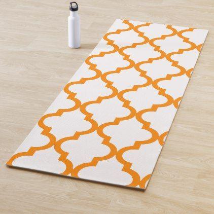 Moroccan Pattern Orange Yoga Mat Zazzle Com Moroccan Pattern Pattern Moroccan