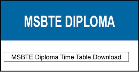 Msbte Time Table 2018 19 Winter Check Www Msbte Info 1st 3rd 5th Sem Exam Date 2018 2019 Download Msbte Diploma Exam Schedule Timetable 2 Time Education Exam