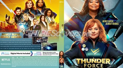 DVD Cover Custom DVD covers BluRay label movie art - Blu-ray CUSTOM Covers - T / Thunder Force (2021)