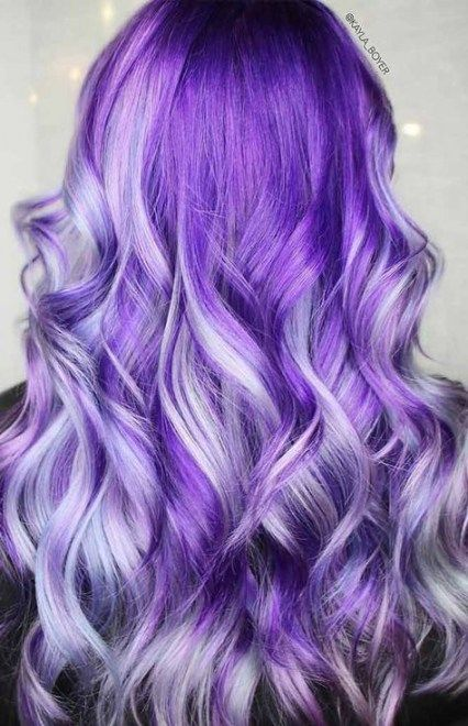 Super Hair Purple Light Silver Ideas In 2019 Dyed Hair Purple