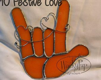 Sign Language I Love You Hand Stained Glass Asl Ily Etsy In 2020 Sign Language Asl Sign Language Old Quotes
