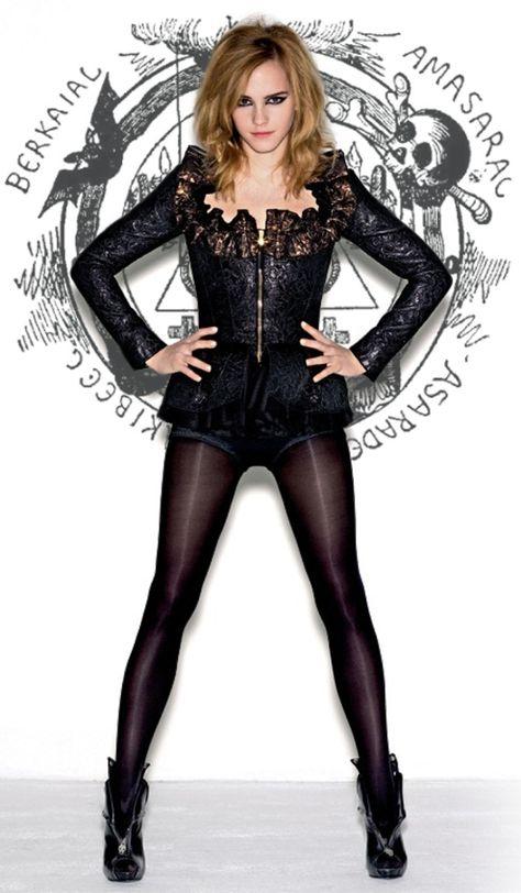 Emma Watson in black tights