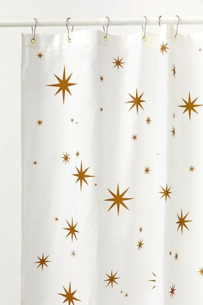 Printed Shower Curtain In 2020 Retro Shower Curtain White