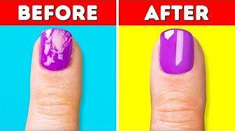 1 5 Minute Crafts Girly Youtube Youtube Nail Hacks Diy Nail Tips Diy Nails Tutorial