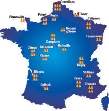 Le Nombre De Reacteurs Et Centrales Nucleaires En France