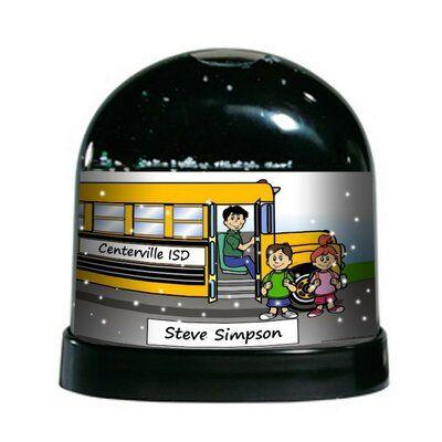 The Holiday Aisle Ntt Cartoon Caricature Male School Bus Driver
