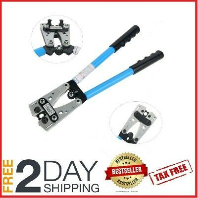 Sponsored Ebay Heavy Duty Crimper 1 0 2 4 8 10 Gauge Hex Crimping Wire Lugs Terminals Large Crimping Tool Electrical Tools Crimping
