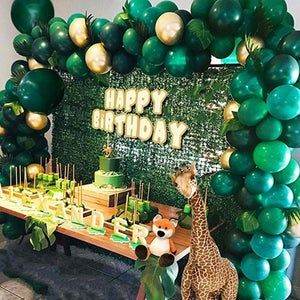 Wild One Birthday Baby Shower 2021 Graduation Party Balloons Jungle Themed Party Balloons Garland Arch Dinosaur Party Supplies Green And Gold Balloons For Happy Birthday Party Jungle and Dinosaur Party Supplies