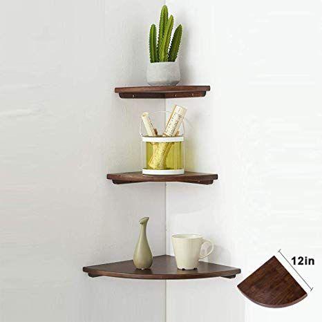 Amazon Com Wood Corner Shelves Sunlife 7 Inch 1pcs Rustic