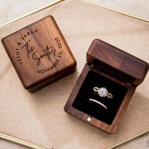 Wedding Ring Box Ring Bearer Box Personalized Ring Box I Do Box Engagement Ring Box Proposal Ring Box Wedding Rings Holder Ring Pillow
