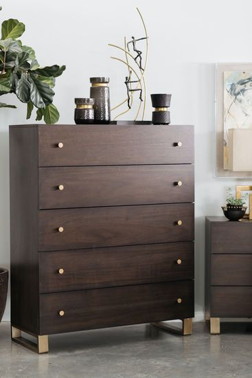 53 Modern Five Drawer Chest In Barton Storage Furniture Bedroom