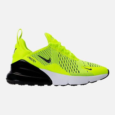 57e4a1f6b3e4 Right view of Kids  Grade School Nike Air Max 270 Casual Shoes in  Volt Black Dark Grey White https   go.magik.ly ml bz3j   sneakers  shoes   shoelover ...