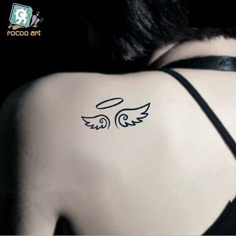 Compra Pequenas Alas De Angel Tatuajes Online Al Por Mayor De Small Angel Tattoo Fake Tattoos Tattoos