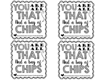You Are All That And A Bag Of Chips Labels... by Traci Bender - The Bender Bunch | Teachers Pay Teachers