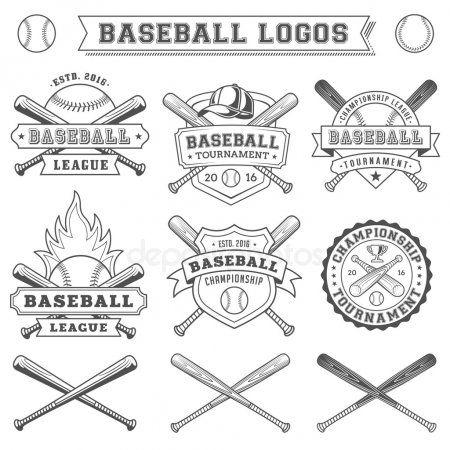 Vector Baseball Logo And Insignia Stock Vector Affiliate Baseball Vector Logo Stock Ad Vintage Logo Design Vintage Logo Insignia