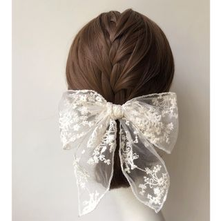 Twin Bear Lace Bow Hair Clip Yesstyle In 2020 Handmade Hair Clip Diy Hair Accessories Bow Hair Clips