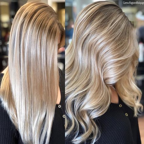 So this is light blonde w/ some lowlights. I want to work w/ my darker roots and try this look out. Might get the same cut too. Stay tuned...