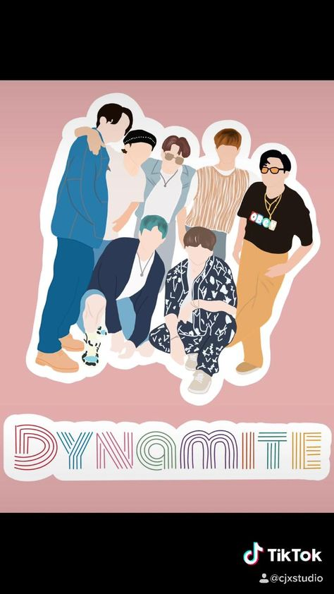 Draw BTS with me in honor of their new album release! Sticker verison avilabile on my Etsy!