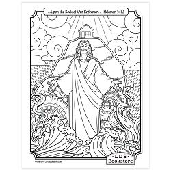 Upon The Rock Of Our Redeemer Coloring Page Printable Coloring Pages Lds Coloring Pages The Rock