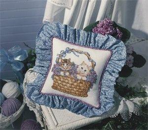 Basket of Kittens Cross Stitch