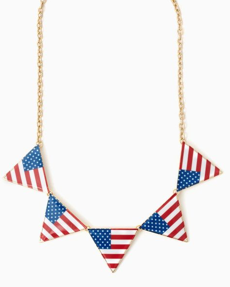 United States of Triangles Necklace | #charmingcharlie