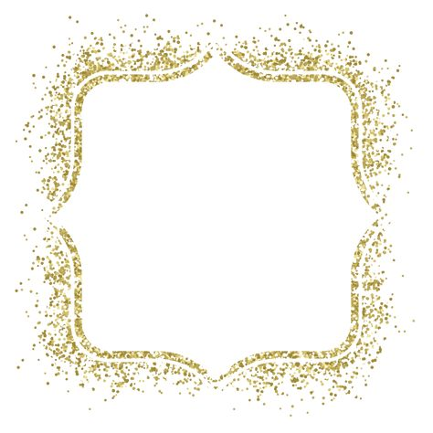 Picture Gold Frame Material Vector Glitter