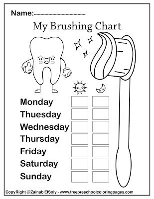 Free Dental Care Cute Kawaii Coloring Pages For Kids Dental Care