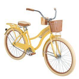 Nel Lusso Women S Cruiser Bike Yellow 26 Inch Cruiser Bike Womens Bike Biking Diy