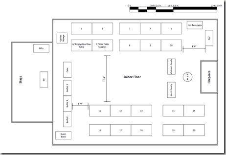 Sample Wedding Floor Plan  Reception    Wedding Floor