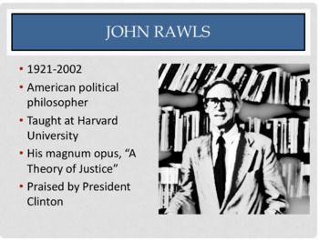 John Rawls Justice As Fairness Ppt By The Philosopher S Shelf Study Philosophy Social Contract Theory Ppt