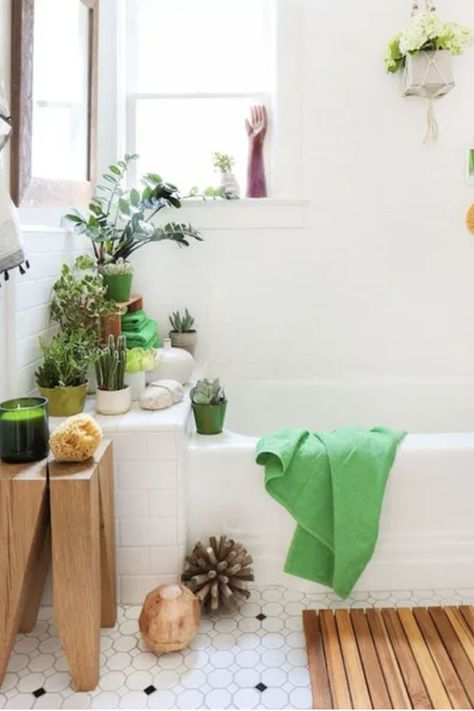 There's no better way to treat yo' self than by turning your tiny bathroom into a haven of relaxation. Not sure where to start? These 15 small-bathroom ideas will show you how to create the perfect mini at-home retreat. So grab your cucumber water and bath bombs because you'll be soaking up those spa vibes before you know it.