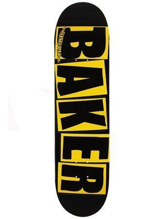 Baker Brand Logo Yellow Black 8 0 Skateboard Deck By Baker 36 99