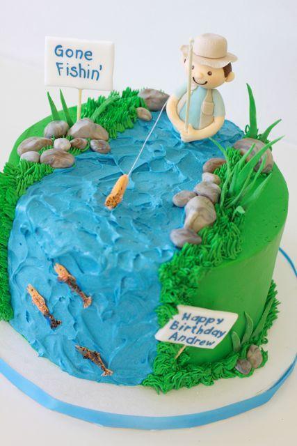 8 best novelty cakes images on Pinterest Fishing cakes Birthday