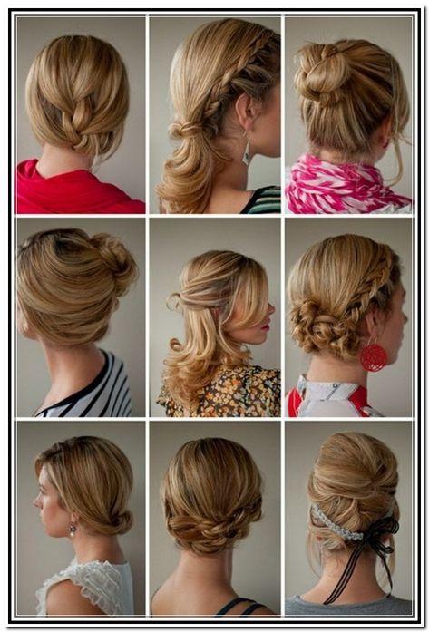 Easy Updos For Medium Length Hair Tutorial In