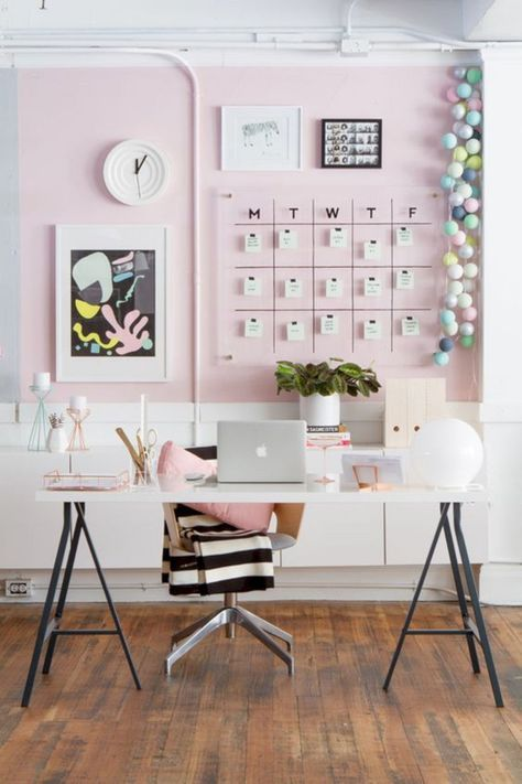 16 Office Wall Decoration Ideas Pink Office Decor Home Office
