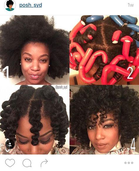 64 Ideas Hairstyles Black Hair Roller Set