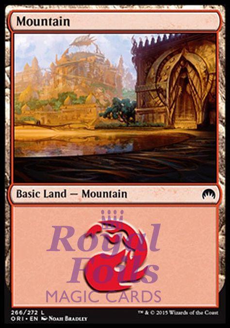Minty Fresh//Unplayed MTG Magic the Gathering MTG Basic Land Mountain FOILS