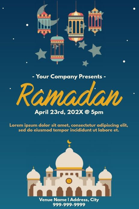 Template Muslim Ramadan In 2021 Ramadan Poster Ramadan Poster Template