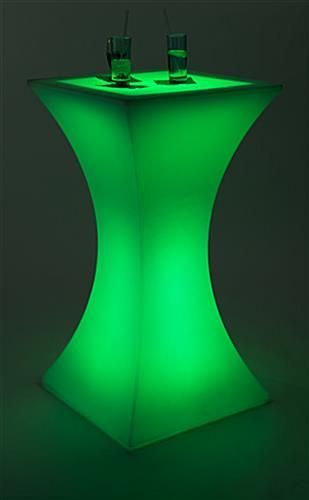 43 25 High Top Table W Led Lighting 16 Color Options