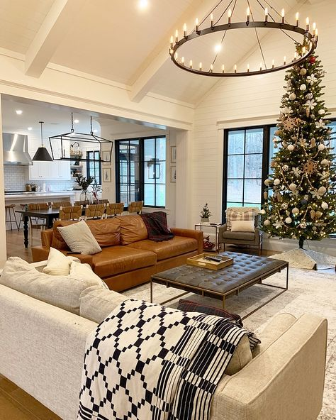 What everyone else does when it comes to home design Interior Living Room Open Concept 19 # Farm House Living Room, Living Room Design Modern, Family Room, Living Room Designs, Home Living Room, New Homes, Living Decor, Interior Design, House Interior