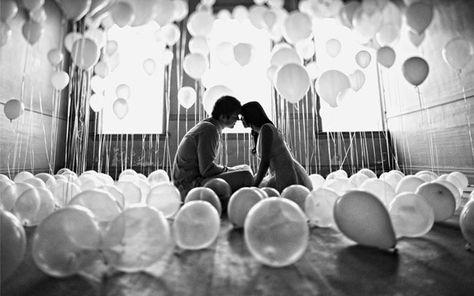 grey, black, white, engagement, balloon, Spring, Summer, air