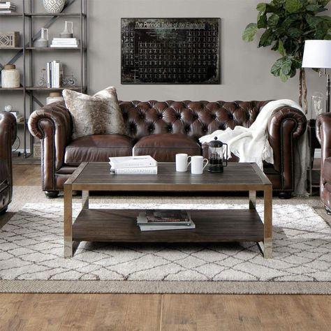 A Mix Match Style Lounge In 2020 Braune Wohnzimmermobel Braune Couch Wohnzimmer Ideen Leder Wohnzimmer