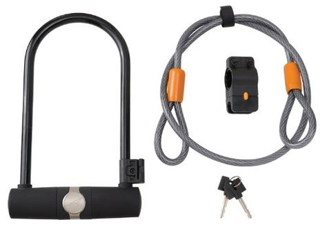 Bike U Locks Avenir Standard Ulock And Cable Lock Duo Black