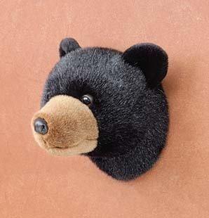 7 5 Black Bear Stuffed Animal Head Wall Mount 6 5 X 7 X 7 5