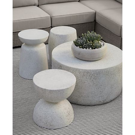 Sale ends soon. This minimalist table-stool looks amazing paired with the geometric curves of the coordinating Ridge, Mesa, and Millstone tables. The Crest Outdoor Side Table-Stool is a Crate and Barrel exclusive.